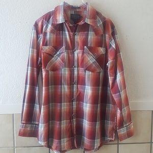 Pendleton men's pearl snap button western shirt L